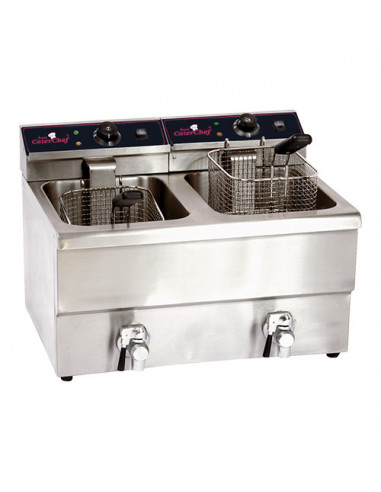 FRITEUSE 2X8L CATER.