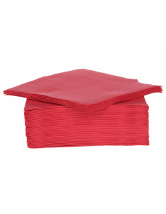 SET 40 SERVIETTES 38CM RED