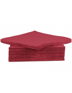 SET 40 SERVIETTES 38CM BORDO